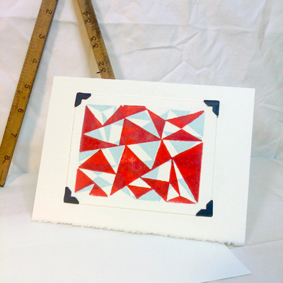 Triangles in Red and Blue