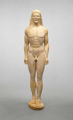 The Statue of a Kouros from the Getty Museum