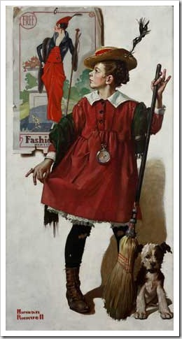 The Little Model by Norman Rockwell, 1919, cover for Collier's
