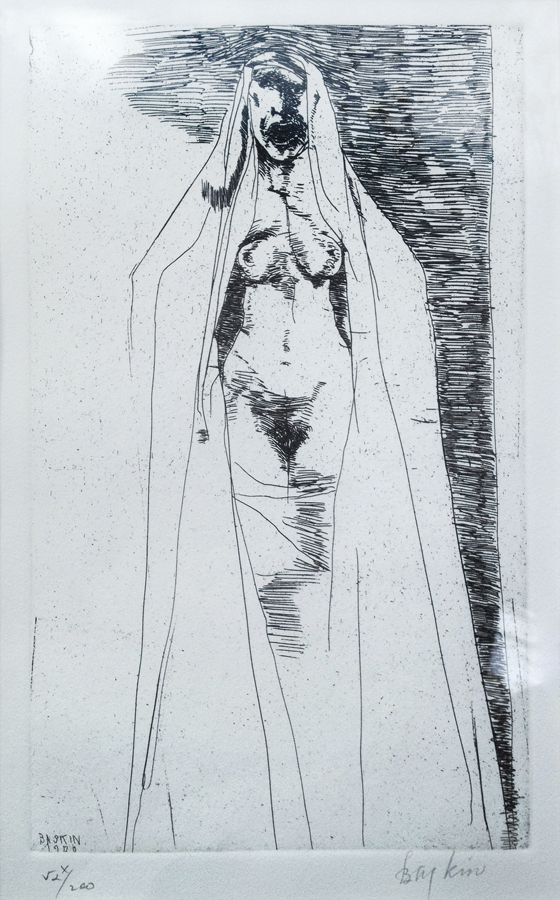 Untitled figure by Leonard Baskin