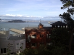 We sat for a bit, drawing this view on Telegraph Hill. YES, we saw parrots!