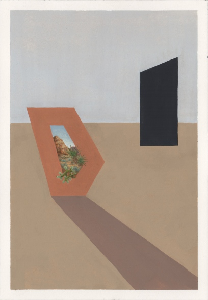 Untitled (Mojave polygon with shadow)